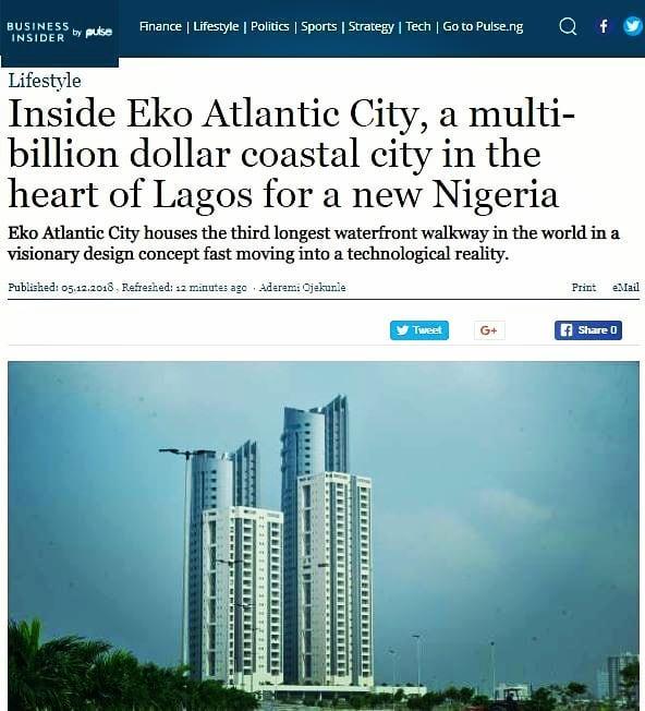Business Insider Visit to Eko Atlantic – Article – Ronald Chagoury Jr